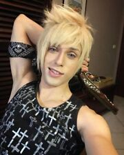 FF15 FFXV Final Fantasy XV Prompto Argentum Short Linen Blonde Cosplay Hair Wig