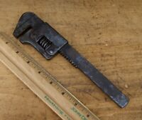 "Vintage Wizard No.19 Adjustable 9"" Monkey Wrench Auto Cycle Mechanic Tool S-4775"