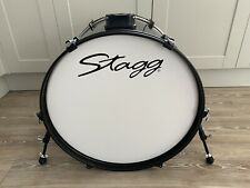 More details for unused stagg 22 x 16in bass drum in gloss black finish free p&p
