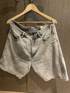 mens diesel denim shorts 32w