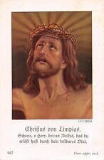 """Heiligenbild  Holycard Christus von Limpias """" H3675"""" Messopfer 1925"""