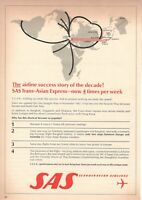 1969 Original Advertising' SAS Scandinavian Airlines System Company Aerial!!!!