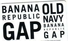 Gap, Old Navy, Banana Republic collectible bilingual GIFT CARD NO VALUE NEW