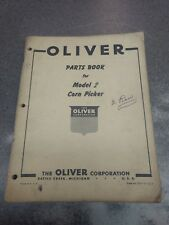 Oliver Model 2 Corn Picker Parts Manual S49j11