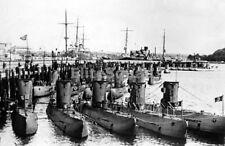 WW2 Photo Rare image fleet of German submarine U-boats WWII 439