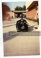snapshot photo   Boy in Batman Halloween Costume Batmobile 1989 #2 comic book