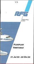 RFG Regionalflug system timetable 7/1/89 [6112]