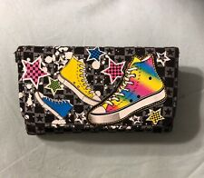 "High Top Themed Girl's Wallet  - 6"" X 3"" - Slightly Used"