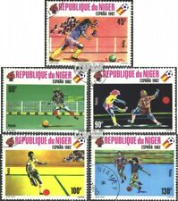 Niger 719-723 (complete issue) used 1980 Football-WM Spain 1982