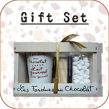 AUX ANYSETIERS DU ROY-Fondue au chocolat + mini Guimauve Ensemble Cadeau