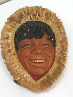 Bossons Collection Eskimo Chalkware England Vintage Head 24571
