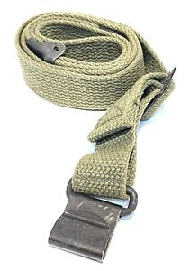 GENUINE US MILITARY M1 GARAND RIFLE SLING VINTAGE WWII KOREAN WAR ERA MRT GREEN