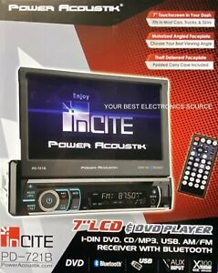 "NEW Power Acoustik PD-721B Single DIN Car Audio Receiver, Flip-Out 7"" Screen"