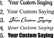 Your Custom Saying Wall Sticker Wall Art Decor Vinyl Lettering Words 7x40