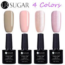 4Bottles/Set 7.5ML UV LED Nail Gel Polish Soak Off Nude Varnish DIY Kit UR Sugar