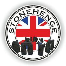 Seal Sticker of Stonehenge England Stamp Bumper Roundel Truck Laptop Car