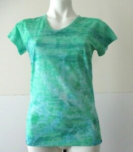 The North Face Regular Size S/P green polyester/cotton short sleeve knit top