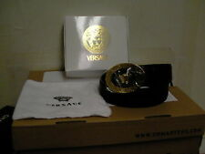 Versace leather black belt Medusa size 100 made in Italy new with box