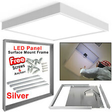 600x600mm Ceiling LED Panel Surface Mount Frame Kit  Aluminum White Finish 12Pcs
