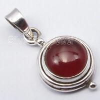 """Carnelian 2.8 tcw Pendant 1"""" Sterling Silver Women Jewelry"""