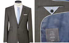 John Lewis Prince of Wales Grey Check Tailored Jacket, Charcoal Size 42R RRP 140