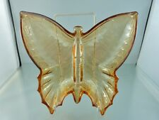 Butterfly Shape Carnival Glass Bowl By unknown