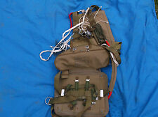 verry old french airforce seat type parachute harness pack and cushon no canopy