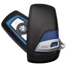 Genuine OEM Style Leather Blue Key Holder Cover Case For BMW 1 3 5 7 X3 X4 F30 F