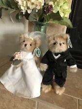 "Bearington  Bears Beary Beautiful Bride/Handsome Husband #170911&2 2010 10"" NWT"