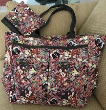 NWT DISNEY LESPORT SAC BAMBI TOTE PURSE THUMPER FLOWER 2 PIECE SET SOLD OUT HTF