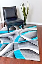 Rugs Area Rugs 8x10 Area Rug Carpet Modern Large Gray Turquoise Bedroom 5x7 Rugs