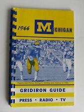 Michigan Wolverines 1966 college football Gridiron Media Guide