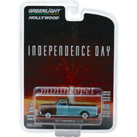 GREENLIGHT 44840 D INDEPENDENCE DAY MOVIE 1971 CHEVROLET C-10 PICK UP 1/64 BLUE