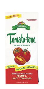 Espoma  Tomato-tone  Plant Food  For Vegetable & Tomato Plants 4 lb.