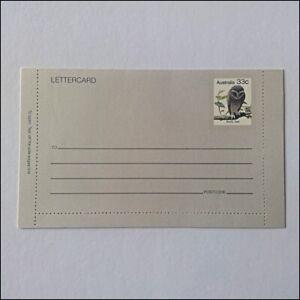 Sooty Owl Boobook Owl Australia Post 1985 Lettercard (AP9)
