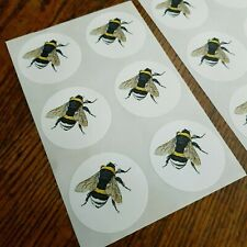Bumble Bee Seals Vintage Style Envelope Stickers Honey Bee Keeper x12 Crafts
