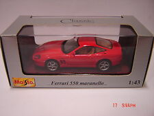 MAISTO  Ferrari 550 Maranello 1996 scale 1:43  in box