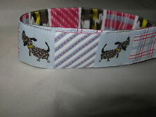 1m Imported Woven  Ribbon - 22mm Patchwork Dogs  from Renaissance