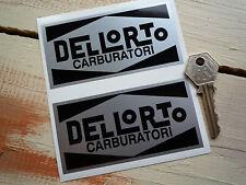 DELLORTO Black & Silver Stickers Ferrari Maserati FIAT