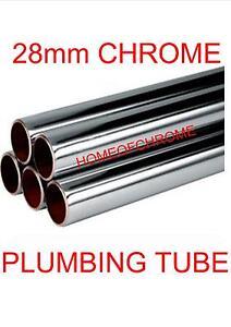 28mm Chrome Plumbing Tube 28mm Chrome Tube Pipe Lengths from 100mm to 1000mm *