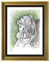 "Pablo Picasso Signed/Hand-Numb Ltd Ed ""Sylvette David II"" Litho Print (unframed)"