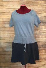 Victorias Secret Blue Campus Short Sleeve Fleece Shirt Dress Womans Size L
