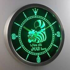 The Cheshire Cat Alice in Wonderland 3D Neon Sign LED Wall Clock NC0234-G