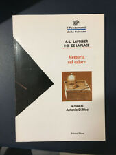 LIBRO MEMORIA SUL CALORE LAVOISIER DE LA PLACE TEKNOS FONDAMENTI SCIENZA 1995