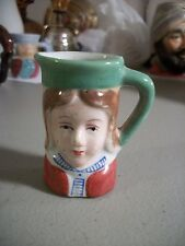 Vintage Miniature Character Lady Toby Jug Made in Japan