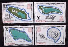 KIRIBATI 1984 Island Maps (3rd series). Set of 4. Mint Never Hinged. SG215/218