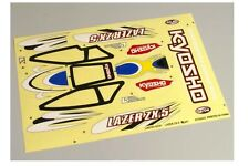 Kyosho LAD102 T2 Yellow Decal Sheet Lazer ZX-5