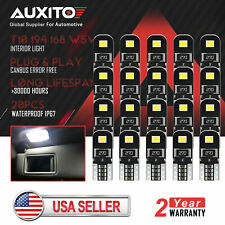 20x AUXITO T10 2825 168 158 194 LED Interior Dome Map License Light Bulb Canbus