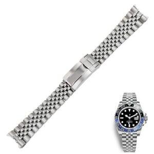 20mm 316L Steel Watch Band Strap Bracelet Jubilee Oyster Clasp For GMT Master II