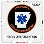 Arkansas Paramedic Reflective Vinyl Decal AR Certified EMT NREMT-P Sticker  R 92